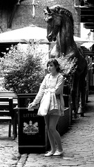 girl smoking (ckallie) Tags: road street summer blackandwhite horse woman sun black tree art nature girl beautiful sunshine closeup corner bag women shoot day shot camden young teenagers teens smoking bin dayout youngsters summery girlsmoking girlinblack