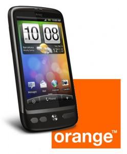 HTC Desire Orange