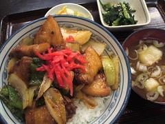 みよし食堂「豚バラ肉丼」(650円)