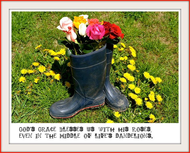 boots and dandelions