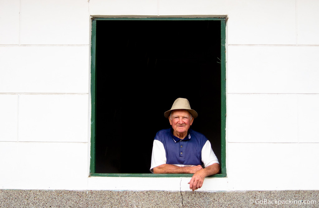 Portrait of a Man in Jardin, Colombia