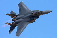 F-15E Over Nellis AFB (JetImagesOnline) Tags: fighter eagle jet airshow airforce burner usaf vapor mcdonnelldouglas afterburner f15e strikeeagle aviationnation