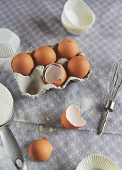 Muffin Ingredients (Katie Cawood) Tags: stilllife muffins baking ingredients eggs flour whisk foodphotography