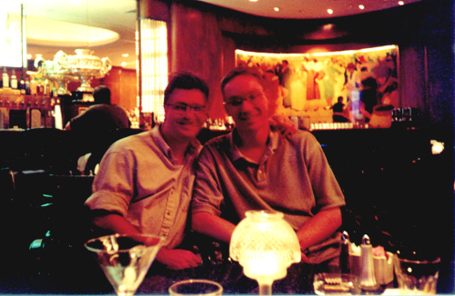 Chuck  &Wes at the Sazerac Bar, 2001