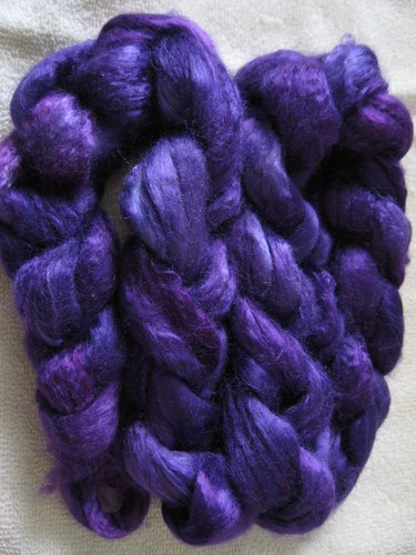 deep purple bamboo fiber