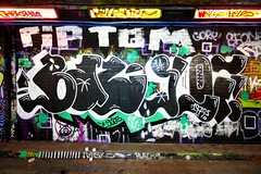 RIP Tom (HowAboutNo!) Tags: street london floors graffiti tunnel waterloo walls cans leake