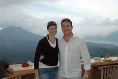 Lorna & Me at Kintamani Volcano