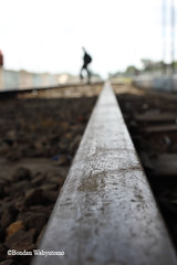 gone (Bondan Wahyutomo) Tags: dof walk rail solo far rel keretaapi purwosari bondanwahyutomo
