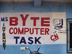 Byte (runran) Tags: india computer words internet goa signage font lettering byte alphanumeric sighn arambol