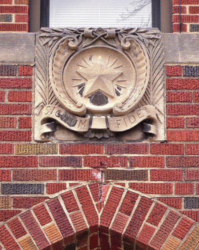 The former Christian Brothers College High School, in Clayton, Missouri, USA - Signum Fidei - Seal of the Christian Brothers