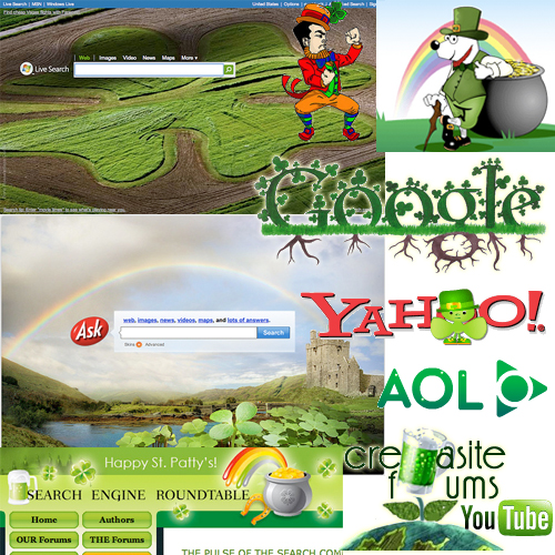 st patricksday search collage