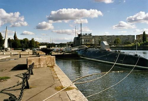 Калининград  Kaliningrad  - The Pregel and Preserved Submarine ©  sludgegulper