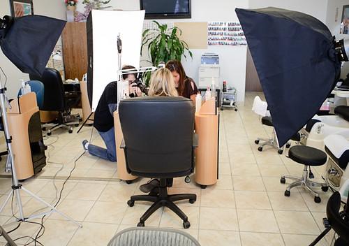Nail Salon Shoot - Behind the Scenes