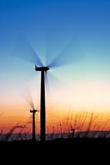 Project: Wind 002 (Stuart Stevenson) Tags: longexposure sunset sky motion colour windmill silhouette clouds canon scotland 300d wind farm tripod stuart forth environment soe turbine vernalequinox blacklaw flickrsbest goldstaraward stuartstevenson canonef28mm135mmf3556isusm 3meninabar stuartstevenson