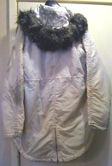 Ladies long white nylon parka found on landfill site (longyman) Tags: ladies abandoned rotting trash found clothing snorkel coat clothes jacket rubbish waste discarded nylon waterproof landfill parka thrown padded rotted dugup thrownaway nyloncoat nylonjacket snorkelparka