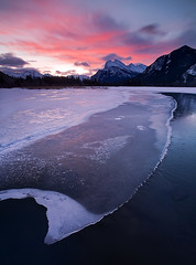 Vermillion Lakes, Banff (Brett Cohen) Tags: sun snow canada mountains cold ice canon landscape rockies brett 5d banff rundle aplusphoto