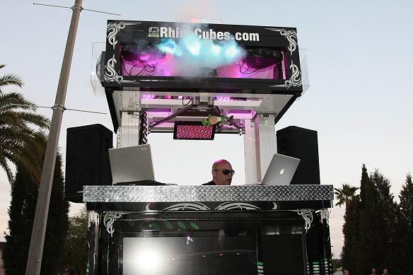 Rhino Cube Media Edition DJ Redvoid and lighting effects by rhinocubes