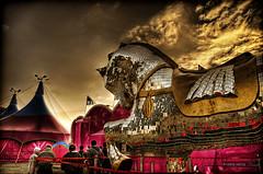 helen of troy (Kris Kros) Tags: carnival people horse cloud photoshop silver photography mirror high nikon dynamic circus flag troy tent helen kris range hdr kkg d300 cs4 photomatix kros kriskros 5xp of kkgallery