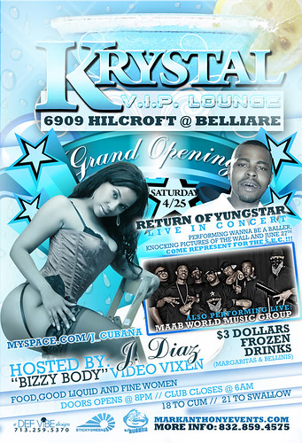 Krystal Lounge VIP Houston TX MarkAnthonyEvents