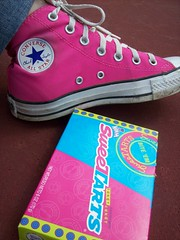 Sweetchucks (BREananicOLE) Tags: shoes converse hightops kicks allstar chucks chucktaylors allstars strictlypinkconverse