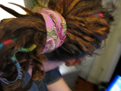 98:365 - one year (cavale) Tags: pink blue wool me dreadlocks scarf self hair beads rainbow locks wraps paisley dreads oneyear hemp cavale project365