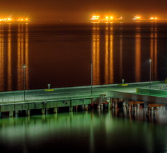 Port of Long Beach at night (kevin dooley) Tags: california ca city light reflection beach water night port canon 50mm gold hotel golden evening harbor pier high long shine dynamic mary 14 large queen 2nd deck busy second range hdr busiest portoflongbeach 40d aplusphoto