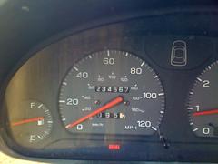Odometer at 234567 miles