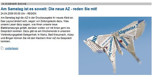 Allgemeine Zeitung kündigt online Print-Relaunch an