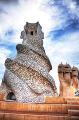 Gaud (Faddoush) Tags: barcelona sculpture art architecture nikon gaud nouveau hdr faddoush