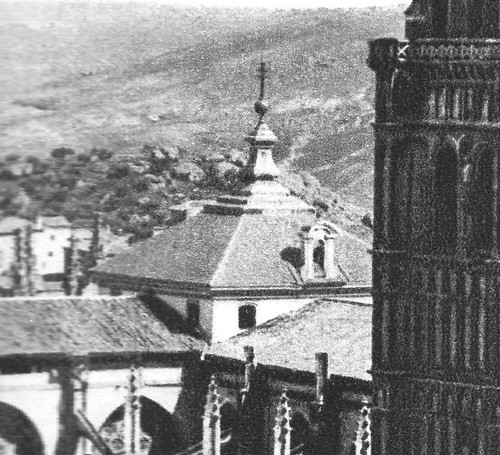 Cimborrio de la Catedral de Toledo antes de 1910. Foto Rodríguez