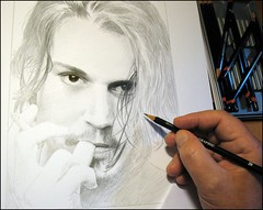 Johnny Depp 02. work in progress (pbradyart) Tags: portrait bw art pencil star sketch artwork drawing johnnydepp pencildrawing artcafe colorsofthesoul johnnydeppdrawing johnnydepppencildrawing