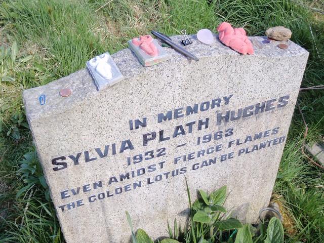 Grave of Poet Sylvia Plath