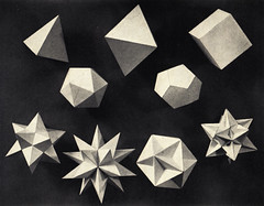 Mathematical Models (ouno design) Tags: blackandwhite geometric layout book photo pyramid geometry polyhedron polyhedra pyramidal platonicsolids mathematicalmodels stellatedpolyhedra greatpolyhedron