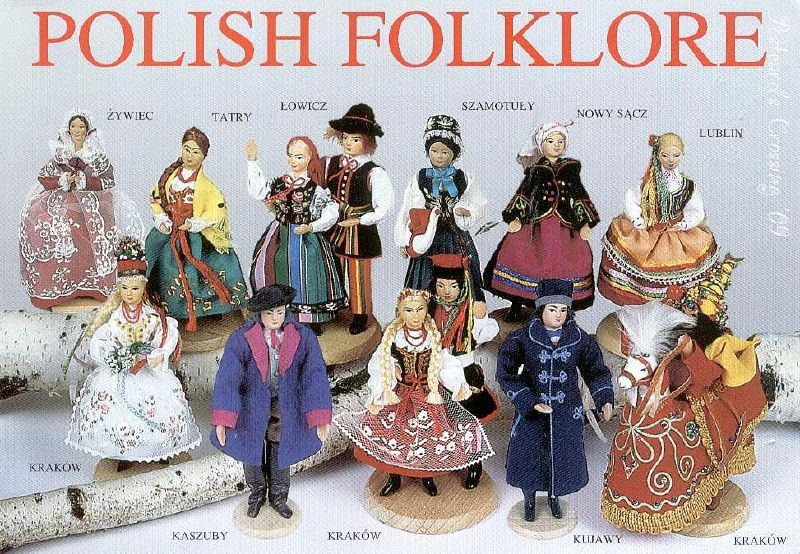 Postcard Friendship Friday 010_Polish costumes