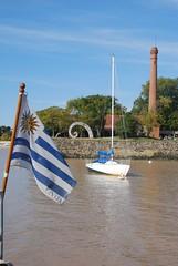 Colonia port (Boring Lovechild) Tags: southamerica uruguay flag bandera colonia 2009 sudamrica coloniadesacramento nikond40x