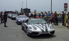 Gumball 3000 2009 - Ferrari 430 (lucre101) Tags: california usa beach race america freedom losangeles santamonica rally ferrari