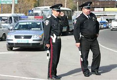 Ukraine_gendarmes (kobra) 2 (kyi027) Tags: brown hat leather uniform sam police ukraine jacket cap trousers militia jas ukrainian polizei policeman policemen gendarme politi politie gendarmerie leren broek    lederkombi