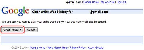 Vider Historique Web Google 3