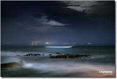 SOL is Five ... (cepdanie) Tags: longexposure sea bali beach nature nightshot wave splash pantai slowshutterspeed solbeach canggu
