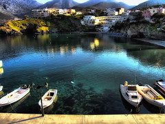 Bali, Rethymno (Theophilos) Tags: sea bali beach port landscape village greece crete rethymno