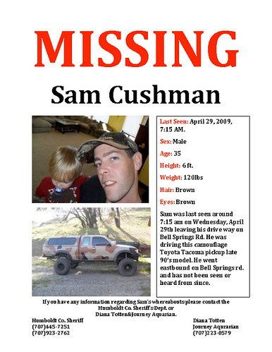 MISSING: Sam Cushman