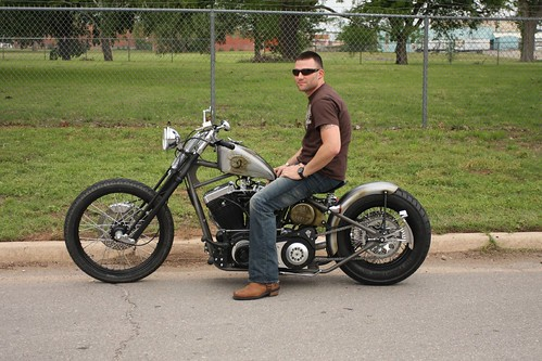 Tattoo Digger hooked him. Adam Lynch, USMC, Test Rides His New Bobber