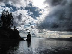 Siwash Rock - Clouds Breaking (keepitsurreal) Tags: vancouver clouds seawall stanleypark siwashrock hdr breaking