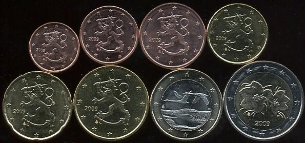 Sada mincí 1 cent - 2 euro Fínsko 2009