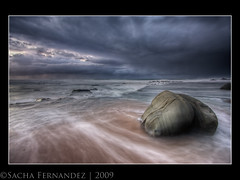 The Rock at Forresters Beach, NSW (sachman75) Tags: morning seascape beach rock clouds waves australia coastal nsw centralcoast storms 1022mm hdr blending rushingwater interestingness15 i500 forrestersbeach twtmeiconoftheday leefilters loveitalot auselite canon40d snaptweet ndgrad9
