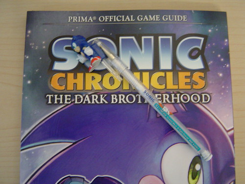 Sonic Chronicles guide and Sonic Pen -- Free Stuff Friday - 5/29/09