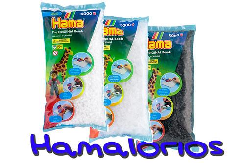 Indispensables de Hama Midi: blanco, transparente, negro