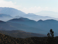 San Bernadino Mountains (Hayden Yates) Tags: california blue mountains color fog clouds digital landscape photography san vista bernadino
