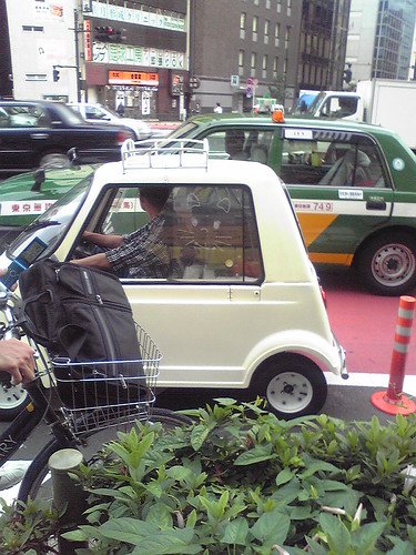 Tiny car in Shinjuku
