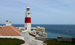 Point Europa Lighthouse (cwgoodroe) Tags: ocean uk england costa sun lighthouse london castle sol beach beer del square airplane colorful europe wind gib military mosque bobby zane pint gibraltar runway policestation fishandchips territory instalation gibralter moneky fedra europapoint airtower angryfriar 3sheets zanelampry corgovesselsummer vesselcollision
